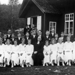 Konfirmation Nordsjö kapell 1935